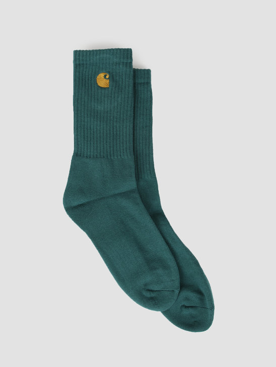 Carhartt WIP Chase Socks Dark Fir Gold I026527