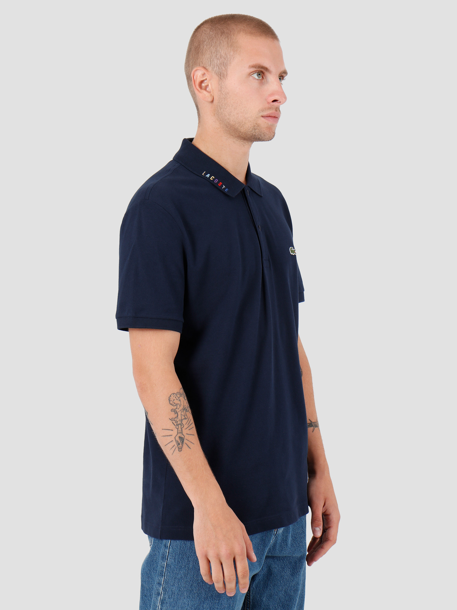 Lacoste Lacoste 1HP3 Shortsleeve Polo Navy Blue PH8525-93
