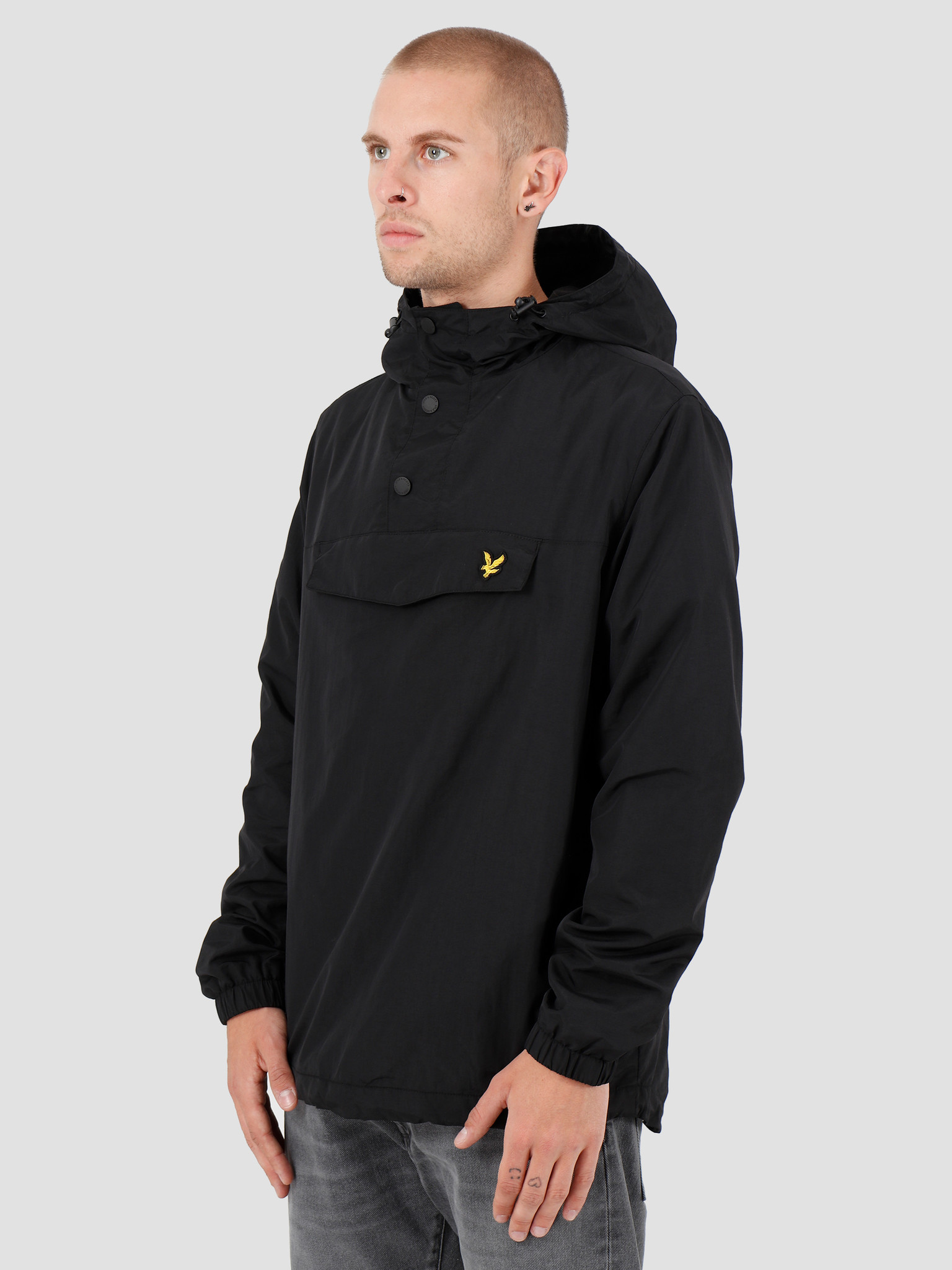 Lyle and Scott Lyle and Scott Overhead Anorak 572 True Black JK1116V