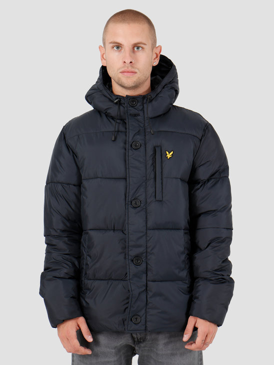 Lyle and Scott Wadded Hooded Bomber Z271 Dark Navy JK1120V