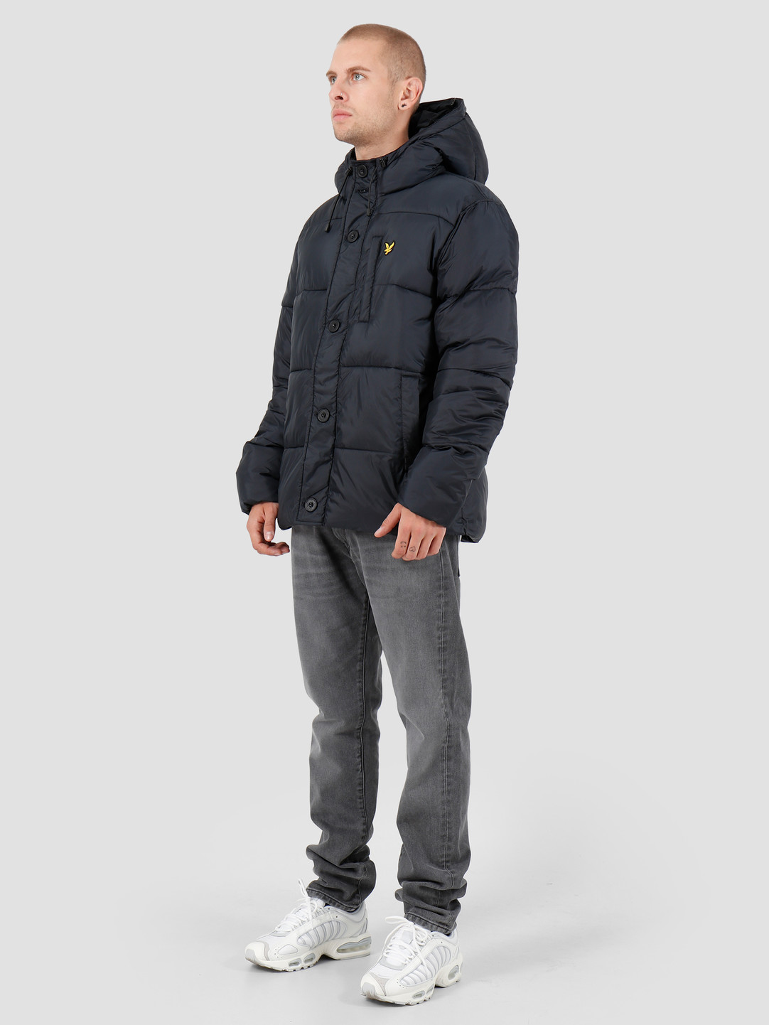 Lyle and Scott Lyle and Scott Wadded Hooded Bomber Z271 Dark Navy JK1120V