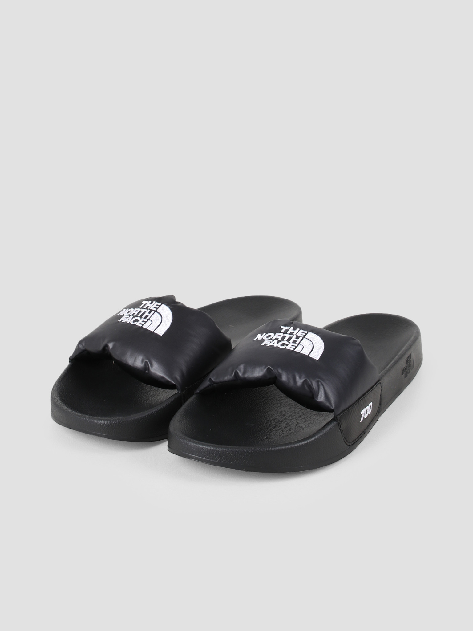 The North Face The North Face Nuptse Slide Black White T947AHKY4
