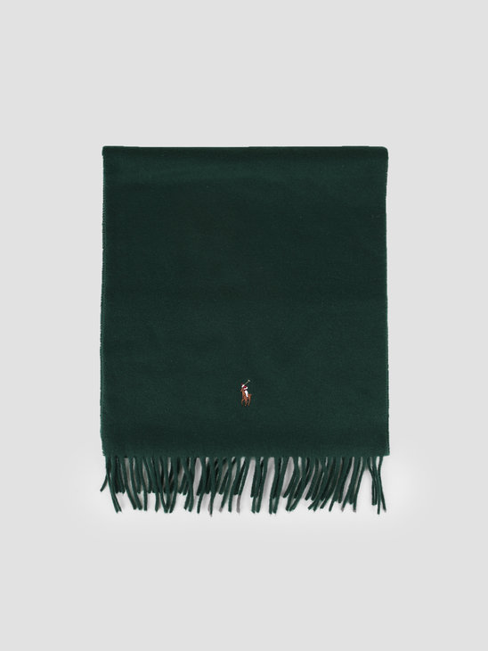 Polo Ralph Lauren Sign It Wool Oblong Scarf College Green 449727530005