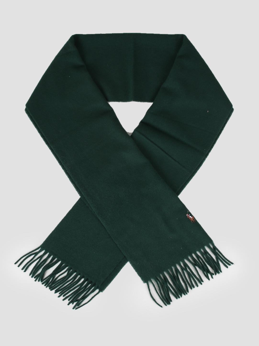 Polo Ralph Lauren Polo Ralph Lauren Sign It Wool Oblong Scarf College Green 449727530005