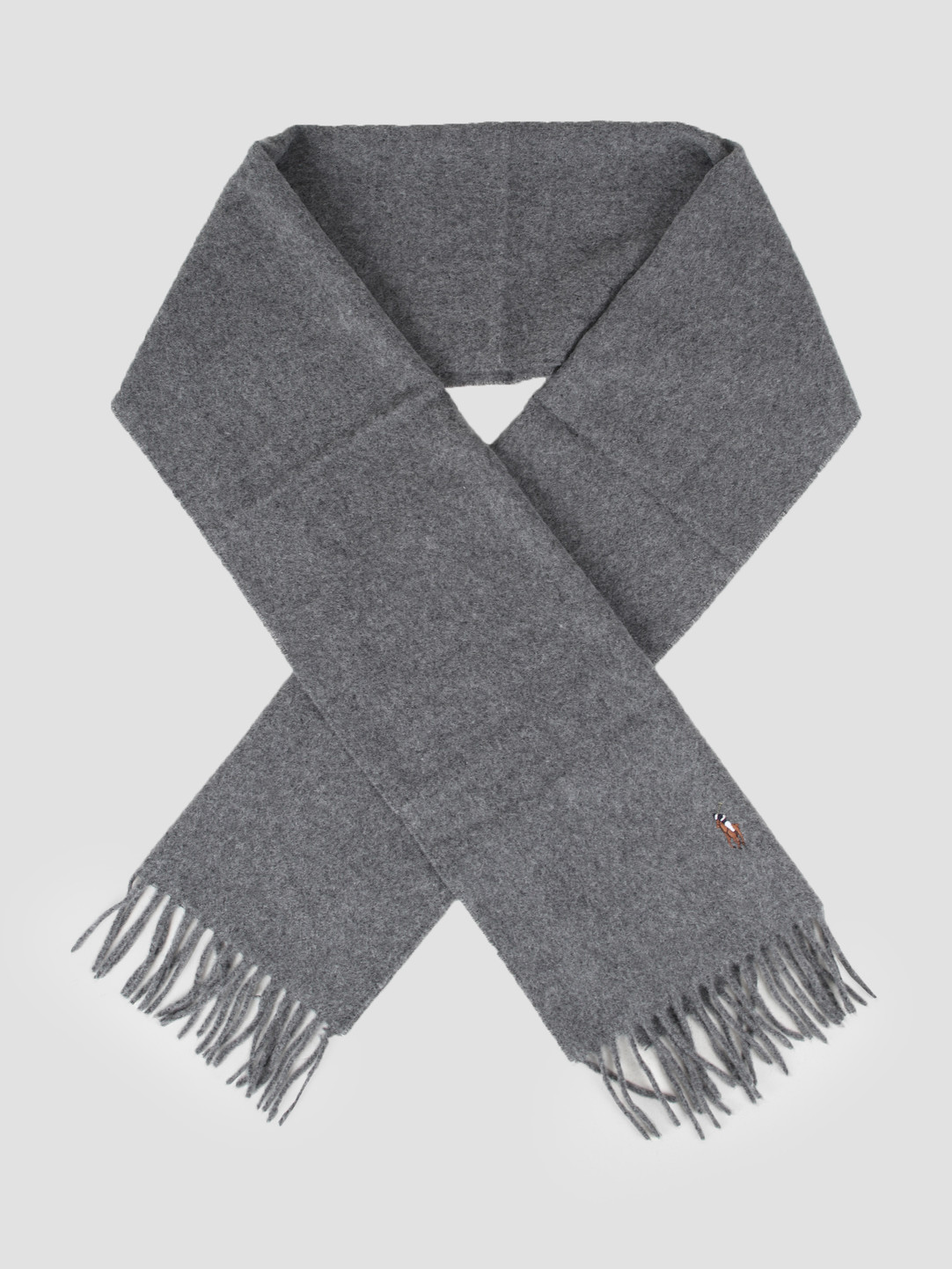 Polo Ralph Lauren Polo Ralph Lauren Sign It Wool Oblong Scarf Fawn Grey Hthr 449727530003