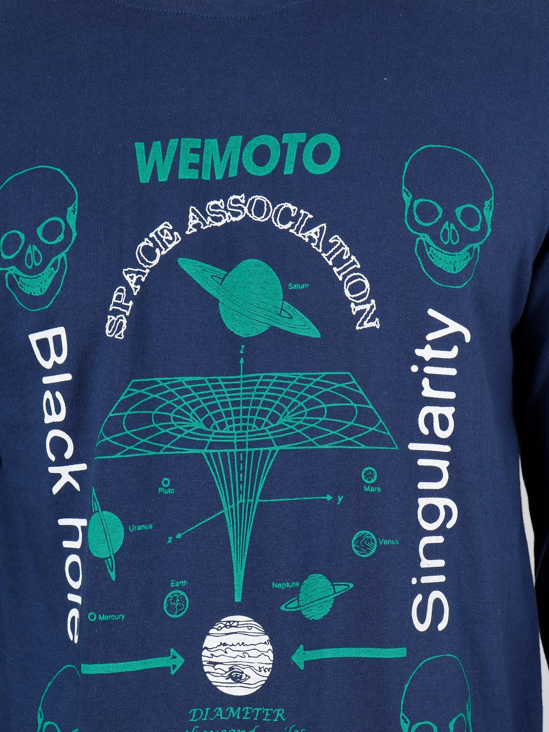 Wemoto Wemoto Singularity Longsleeve Navy Blue 141.123-400