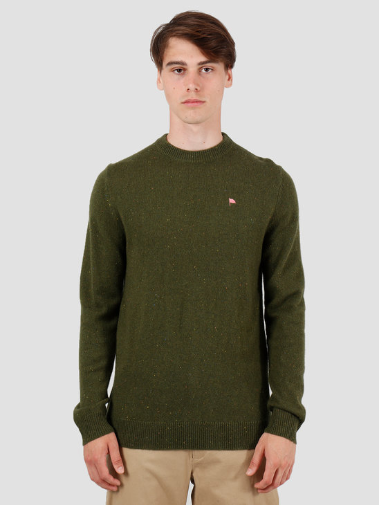Wemoto Norman Sweater Olive Nep 141.501-654