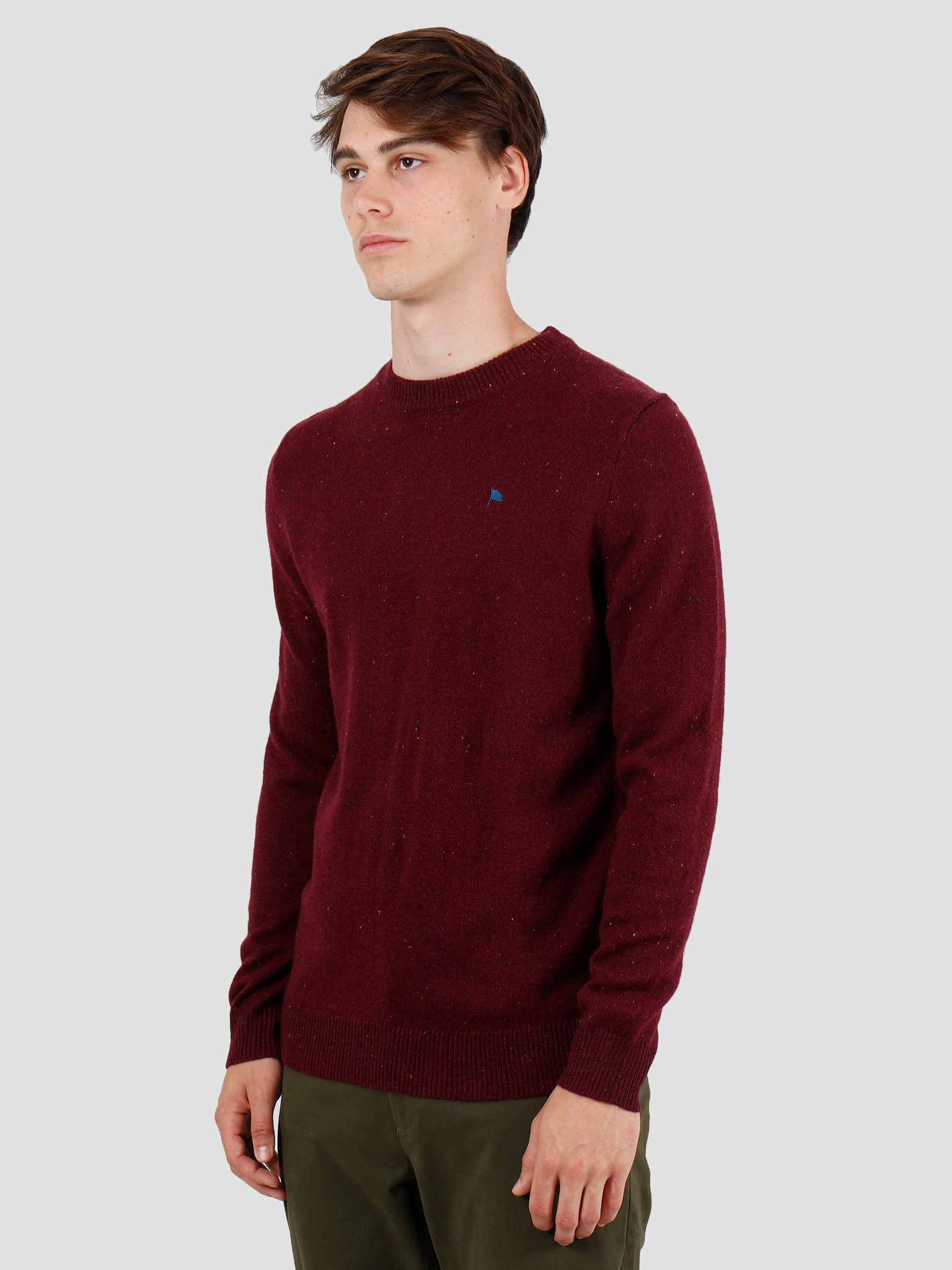Wemoto Wemoto Norman Sweater Burgundy Nep 141.501-566