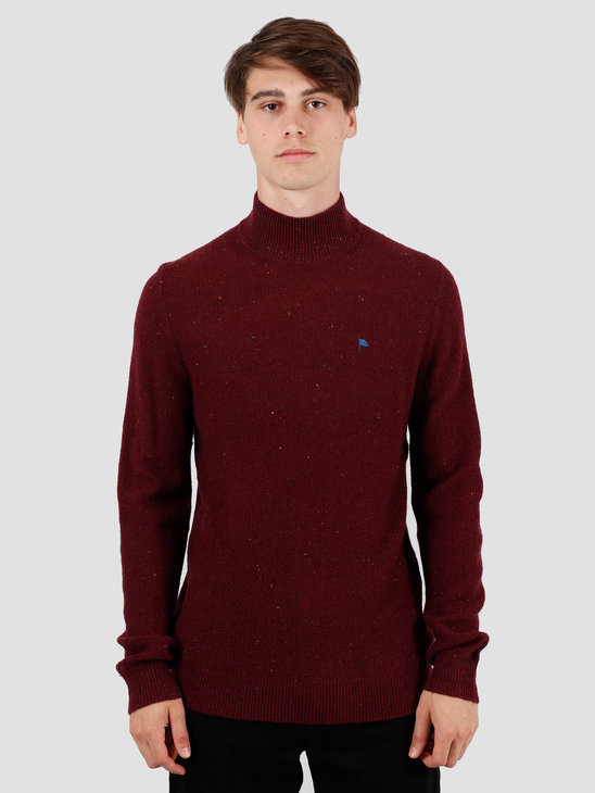 Wemoto Henry Sweater Burgundy Nep 141.502-566