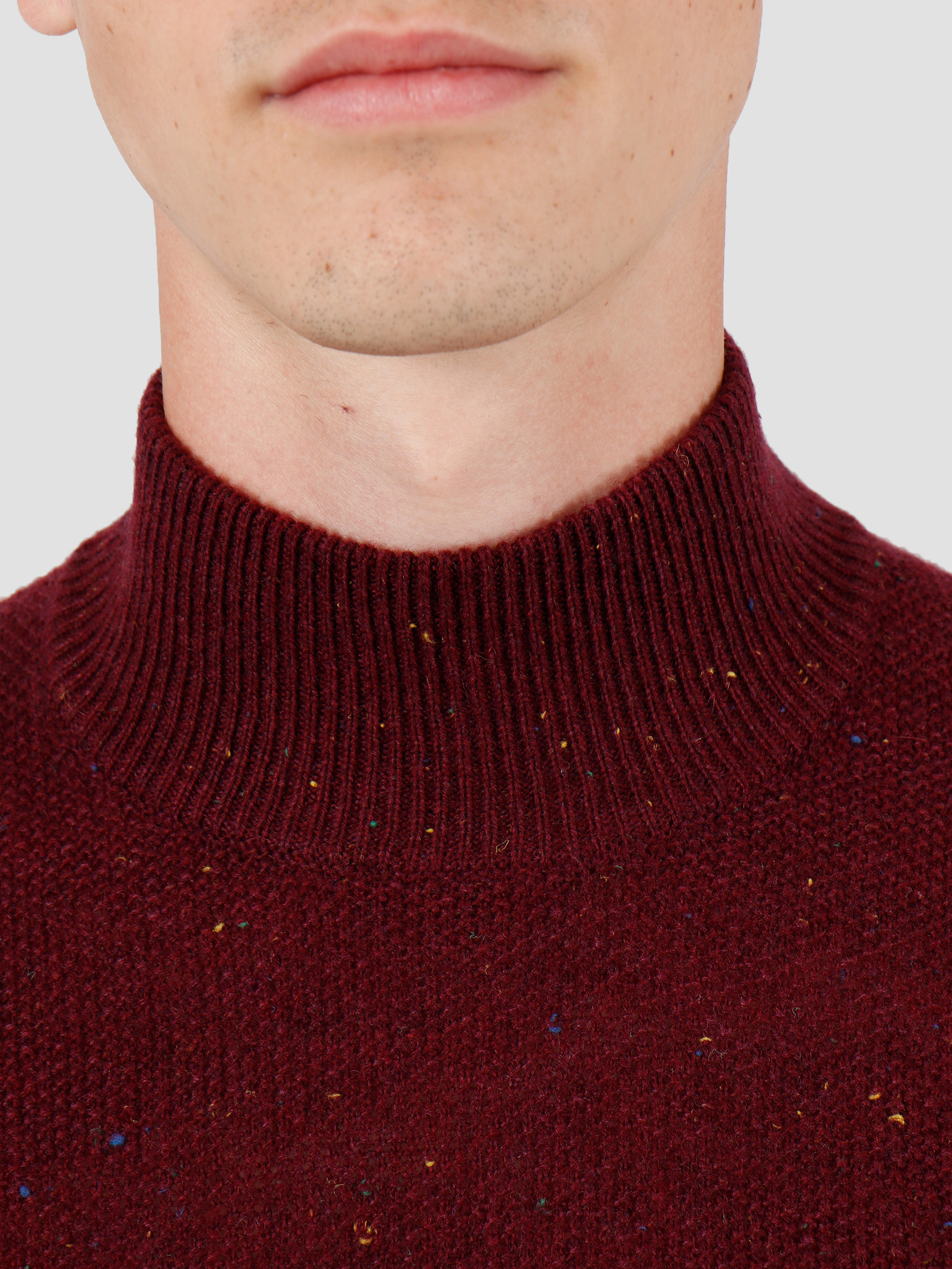 Wemoto Wemoto Henry Sweater Burgundy Nep 141.502-566