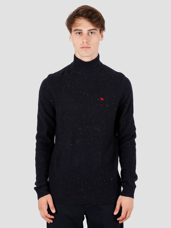 Wemoto Henry Sweater Navy Blue Nep 141.502-426