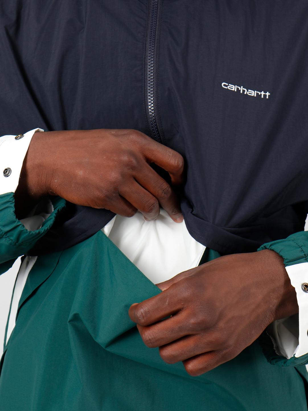Carhartt WIP Carhartt WIP Barnes Pullover Dark Navy Dark Fir Wax I027192