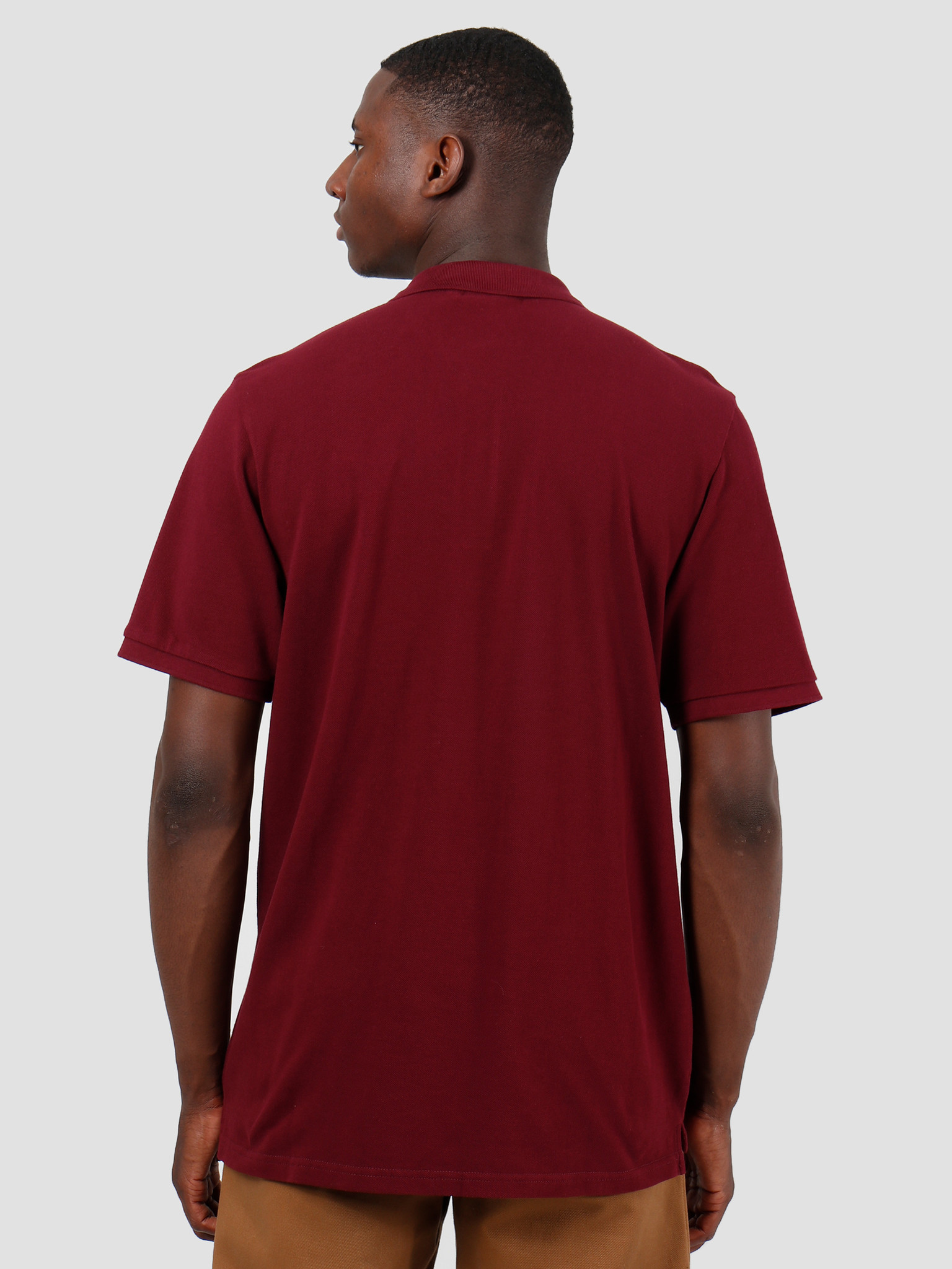 Carhartt WIP Carhartt WIP Chase Pique Polo Merlot Gold I023807