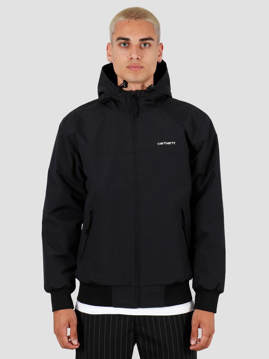 Carhartt WIP Hooded Sail Jacket Black White I022721-8991