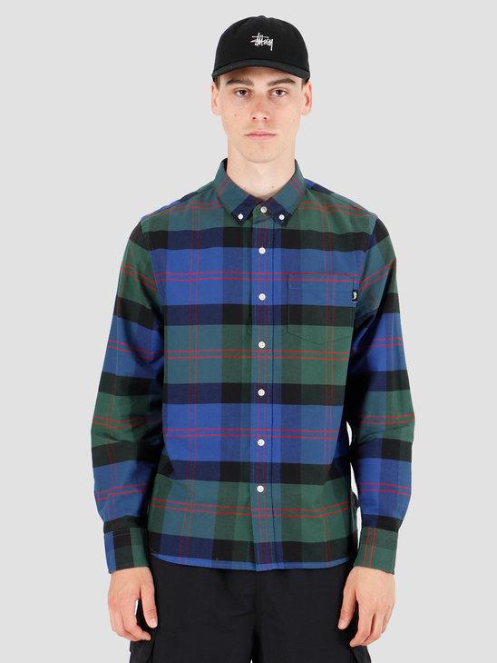 Stussy Classic Oxford Longsleeve Shirt Green Plaid 1110063