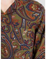 Stussy Stussy Cypress Paisley Longsleeve Shirt Olive 1110070