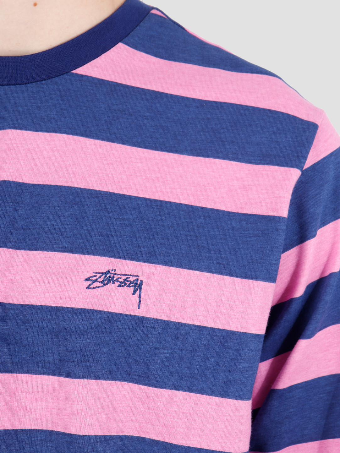 Stussy Stussy Printed Stripe Longsleeve Crew Blue 1140161