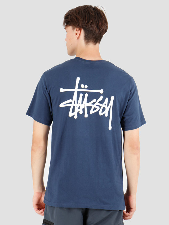 Stussy Basic Stussy T-Shirt Navy 1904416