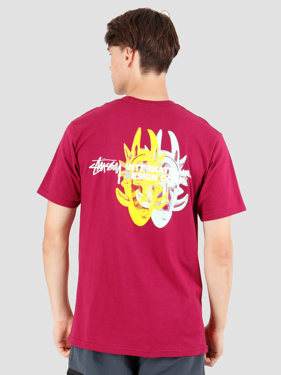 Stussy Double Mask T-Shirt Wine 1904424