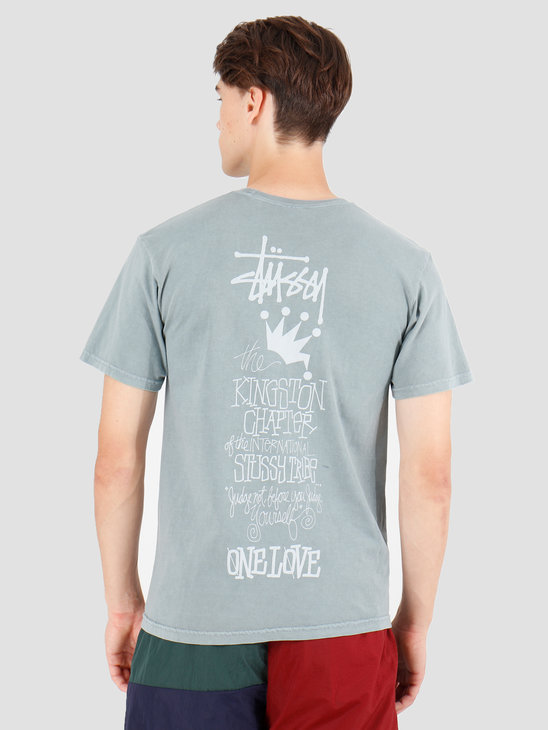 Stussy Kingston Chapter Pig. Dyed T-Shirt Slate 1904440