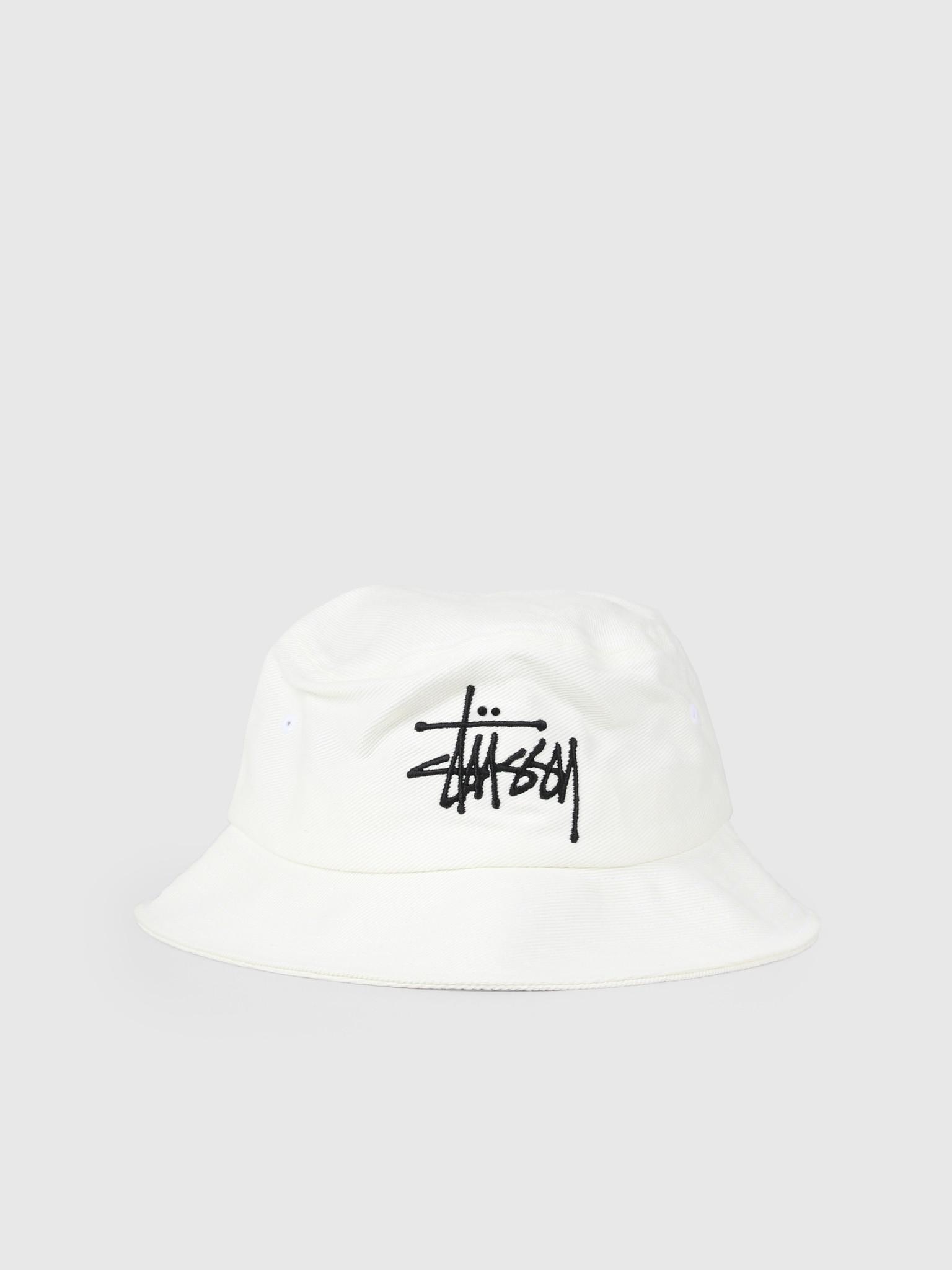Stussy Stussy Big Logo Bucket Hat White 132942