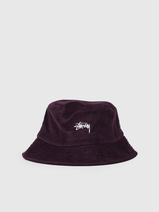 Stussy Corduroy Bucket Hat Lavendar 132944