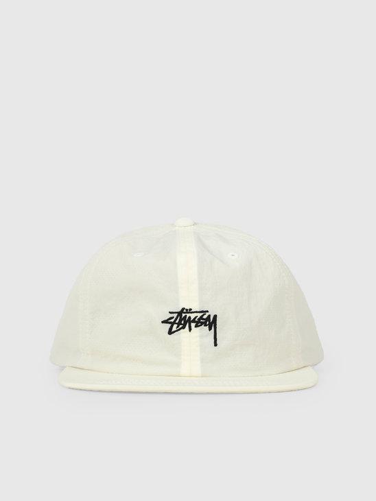Stussy Fa19 Stock Nylon Strapback Cap Off White 131913