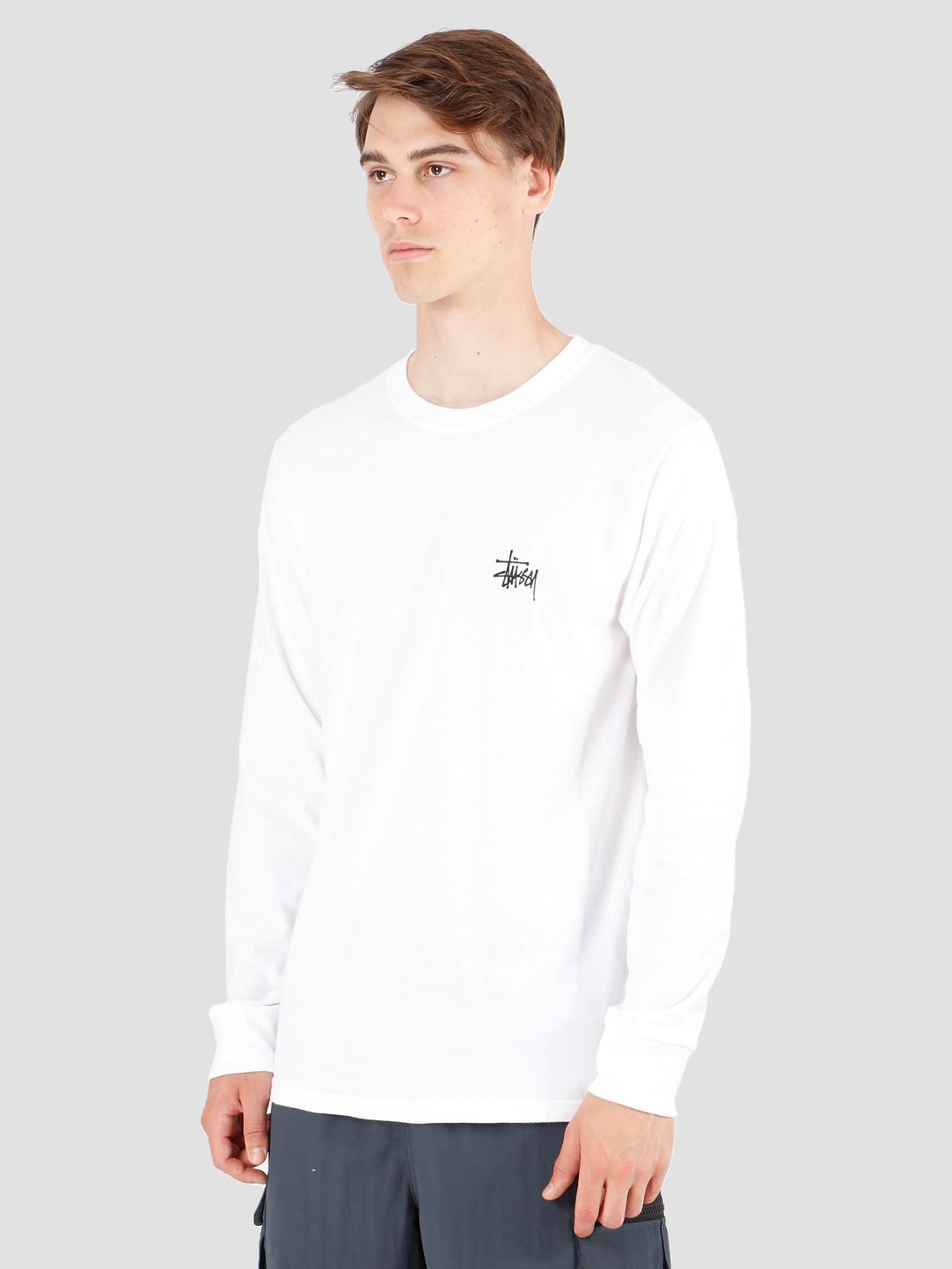 Stussy Stussy Basic Stussy Longsleeve T-Shirt White 1994416