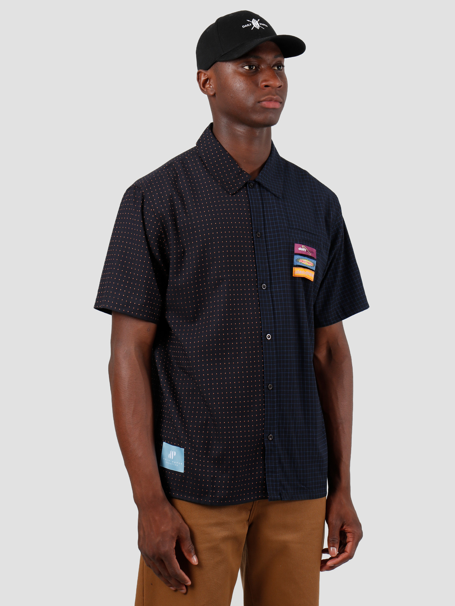 Daily Paper Daily Paper Gatik 1 Shirt Black Dot Check 19F1SH02-01