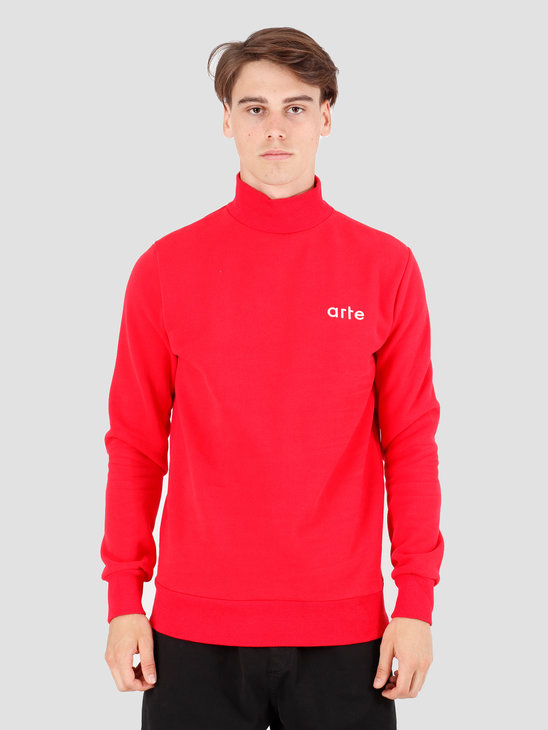 Arte Antwerp Carter Sweater Red AW19-085