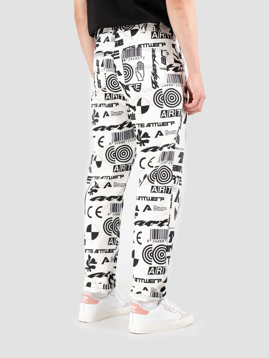 Arte Antwerp Arte Antwerp Parker Allover Pants Black/White AW19-053