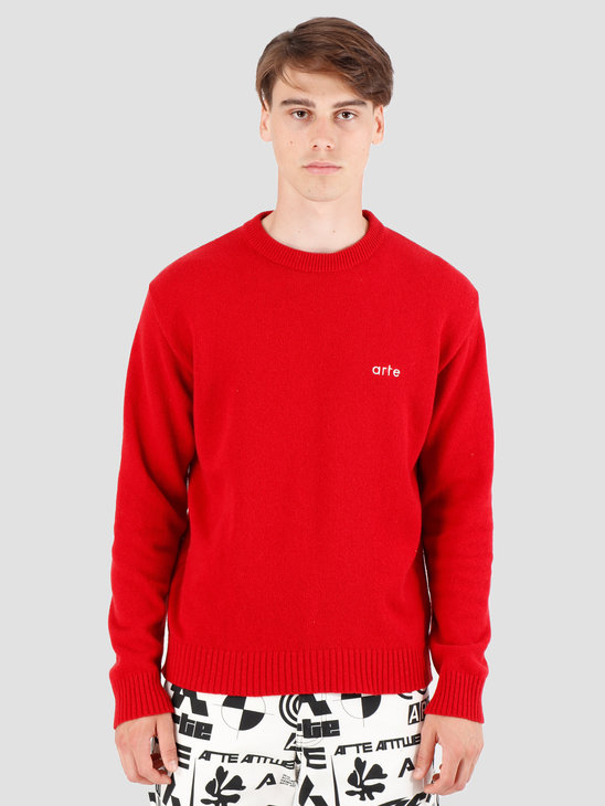 Arte Antwerp Kobe  Knit Sweater Red AW19-019
