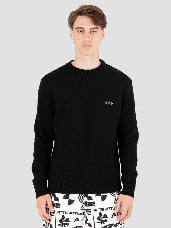 Arte Antwerp Kobe  Knit Sweater Black AW19-019