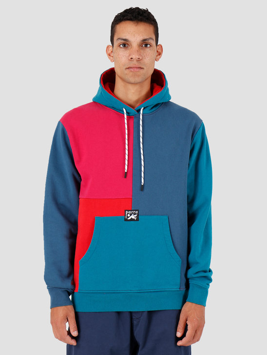 By Parra Colorblocked Hooded Sweater Multicolor 42870
