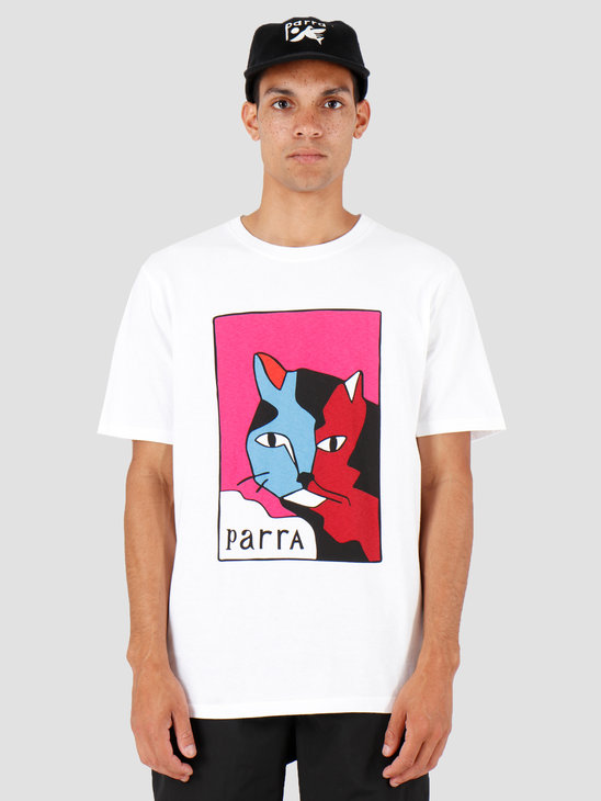 By Parra Earl The Cat T-Shirt White 42840