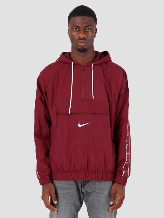 Nike Sportswear Swoosh Anorak Night Maroon White White Cd0419-681