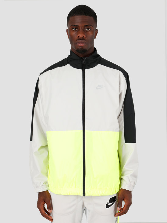 Nike NSW Sc Woven Jacket Black Light Bone Volt Etallic Silver CQ0247-011