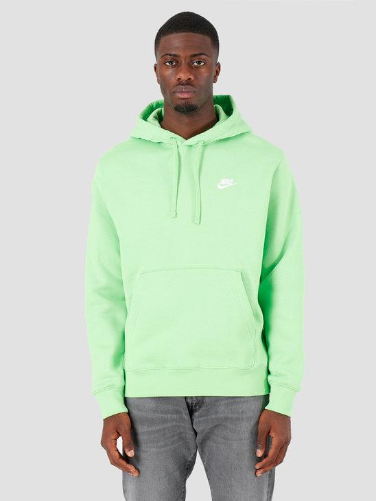 Nike NSW Club Hoodie Po Bb Green Nebula Green Nebula White BV2654-378
