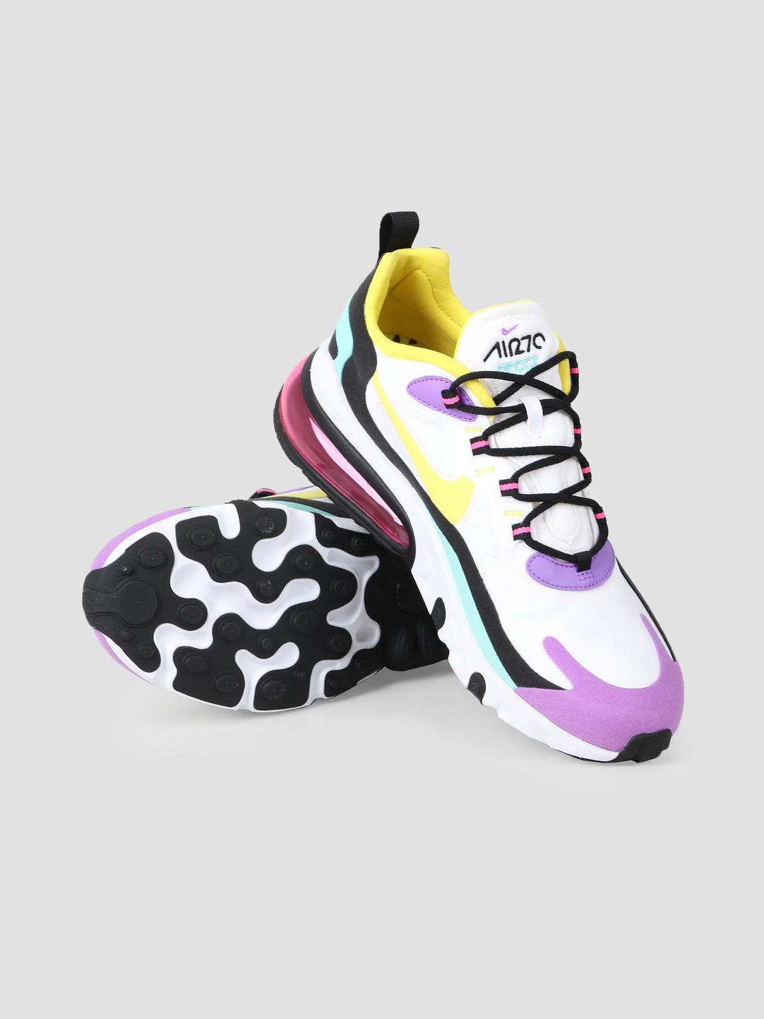 Nike Nike Air Max 270 React White Dynamic Yellow Black Bright Violet AO4971-101