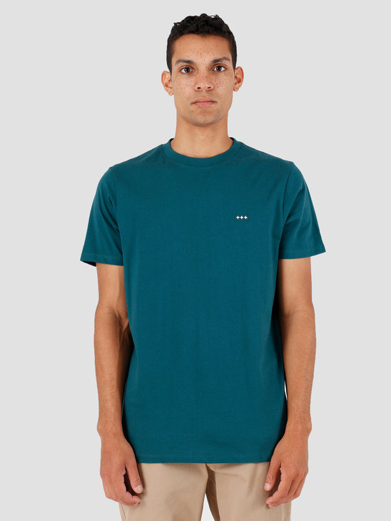 Quality Blanks QB03 Patch Logo T-shirt Dark Teal