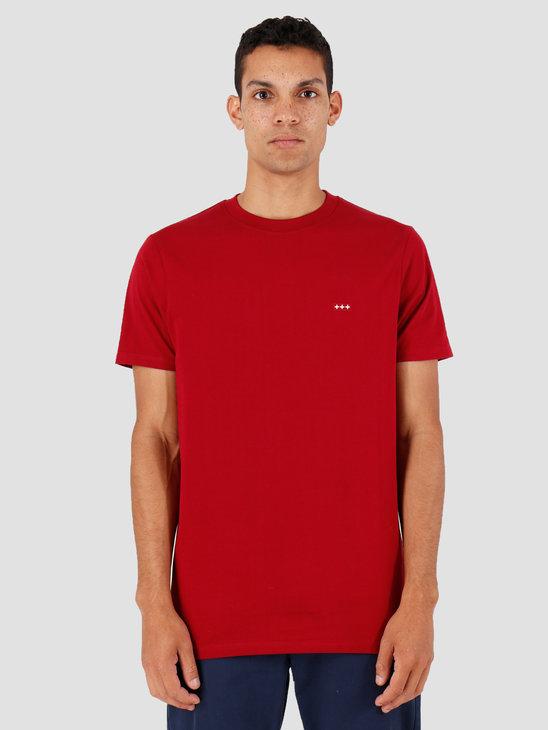 Quality Blanks QB03 Patch Logo T-shirt Jewel Red