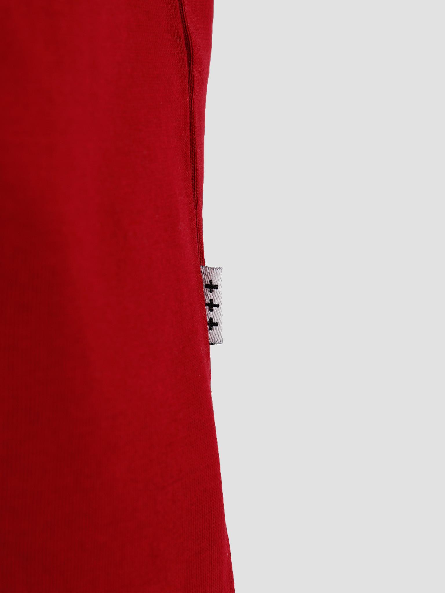 Quality Blanks Quality Blanks QB03 Patch Logo T-shirt Jewel Red
