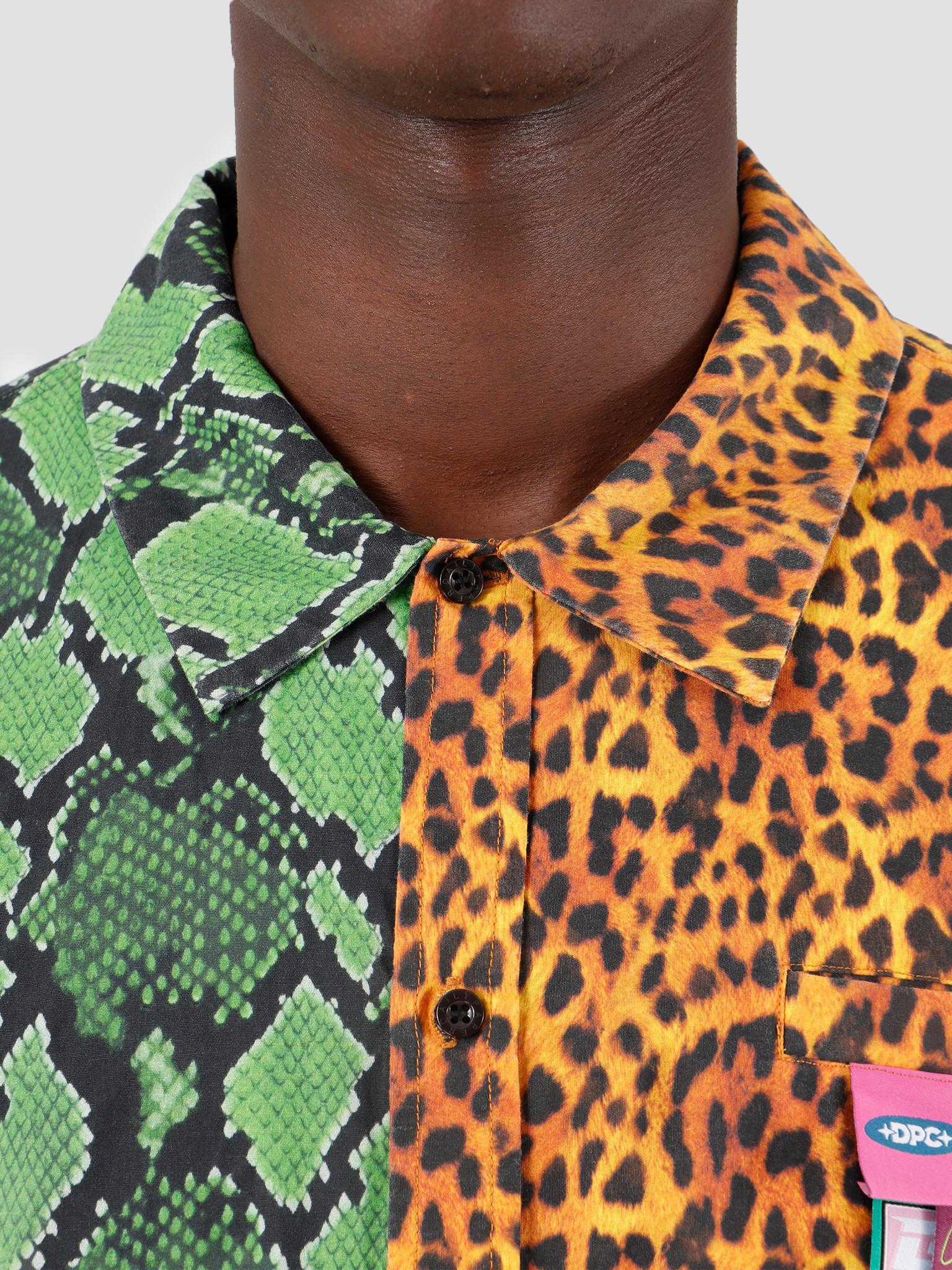 Daily Paper Daily Paper Gatik 2 Shirt Green Snake Leopard 19F1SH02-02