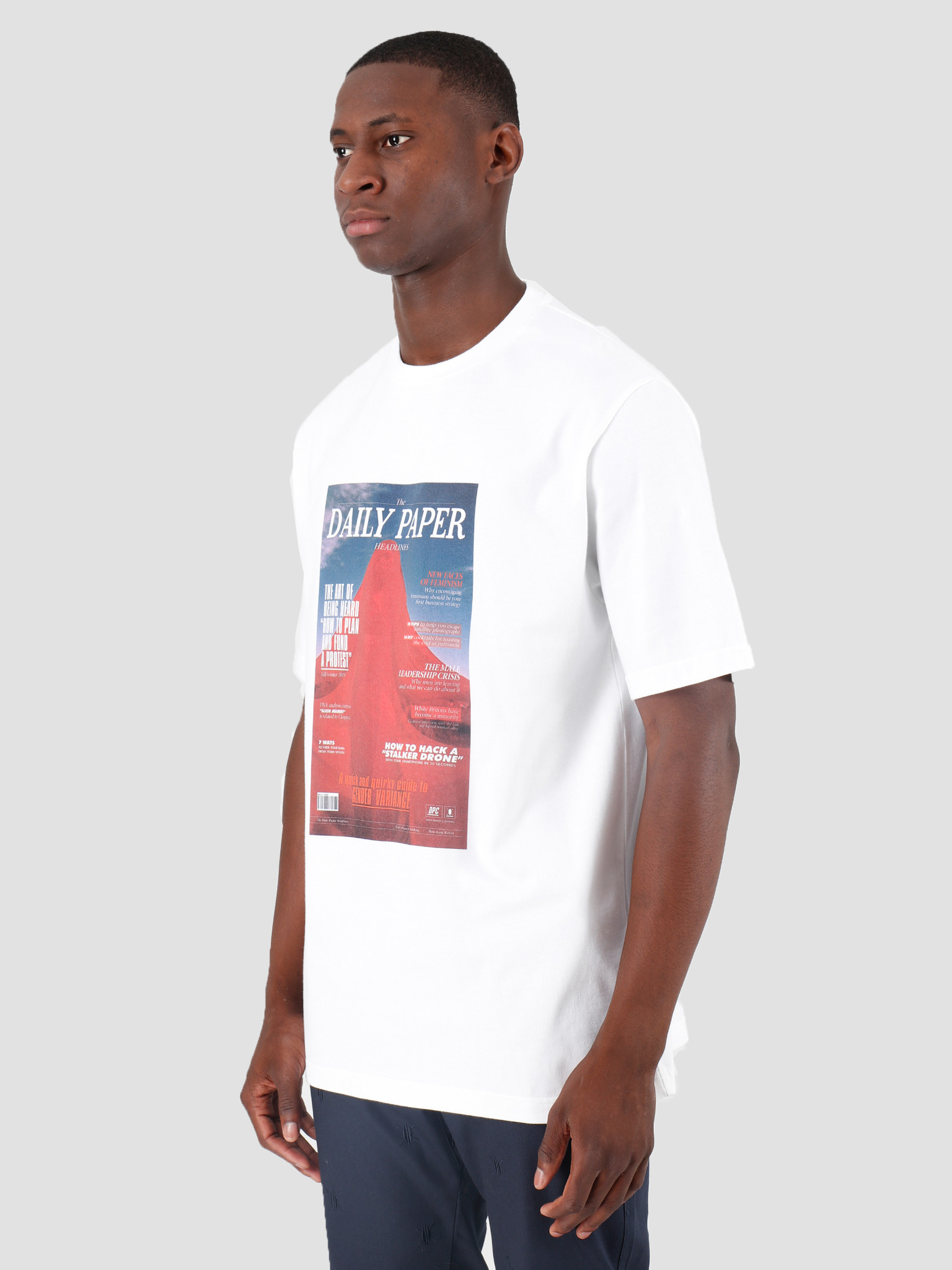 Daily Paper Daily Paper Gous 3 T-Shirt White 19F1TS30-03