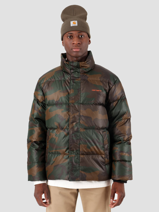 Carhartt WIP Deming Jacket Camo Evergreen Brick Orange I025113