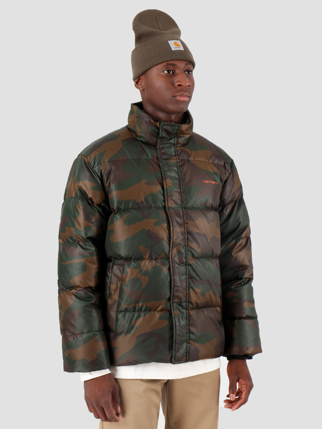 buy online hot products 50% price Carhartt WIP Deming Jacket Camo Evergreen Brick Orange I025113
