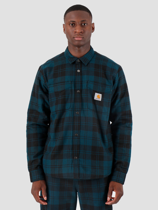Carhartt WIP Pulford Shirt Jacket Pulford Check Duck Blue I026797
