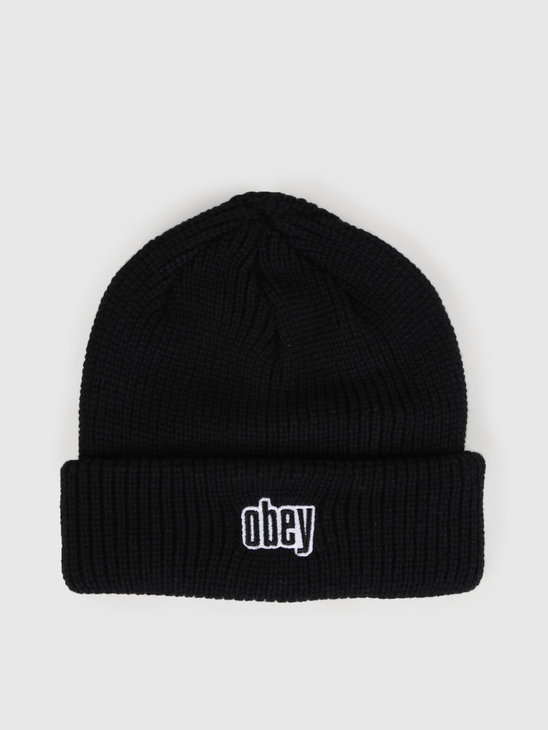 Obey Jungle Beanie Black 100030139-BLK