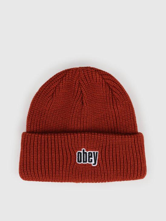 Obey Jungle Beanie Brick Red 100030139-BRD