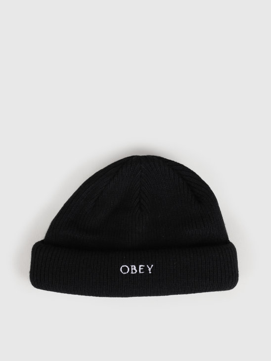 Obey Rollup Beanie Black 100030146-BLK